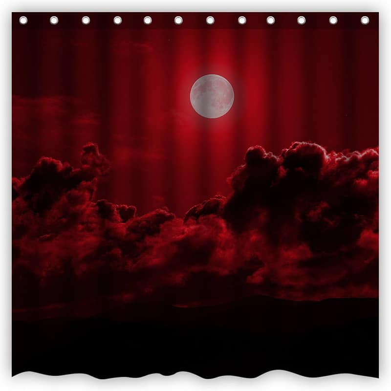 Blood Red Clouds Sky Shower Curtain