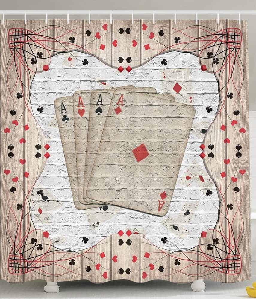 Cards gambler shower curtain