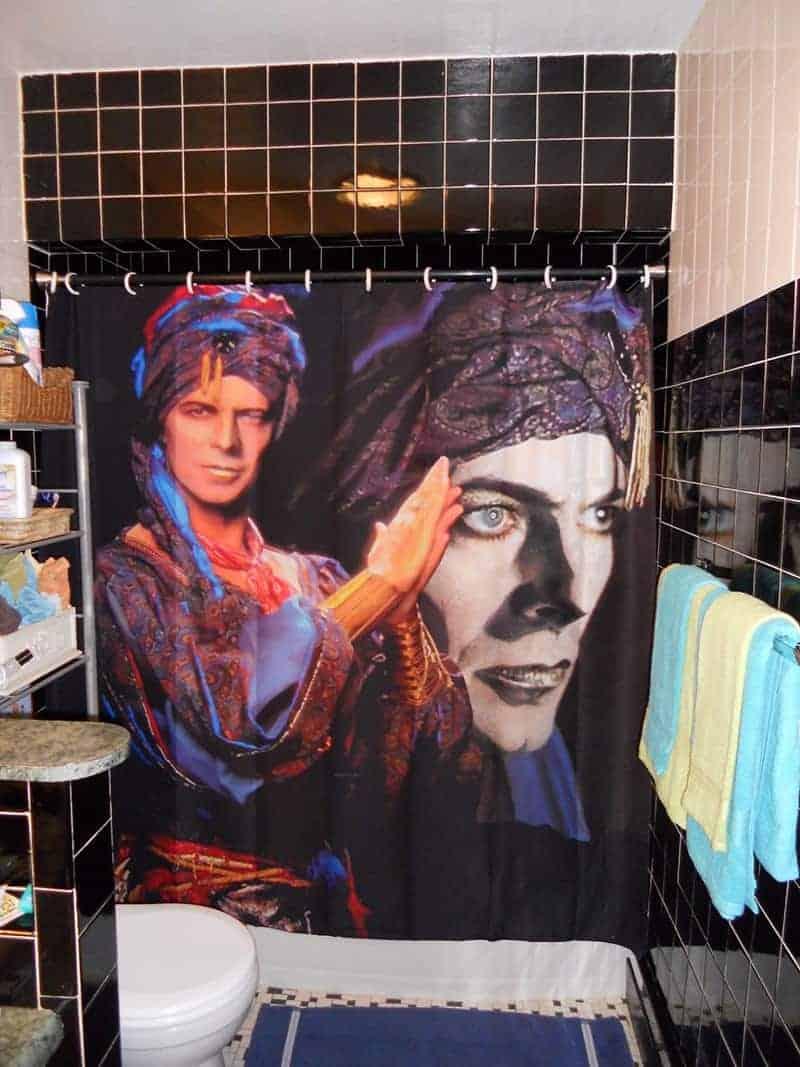 David Bowie shower curtain