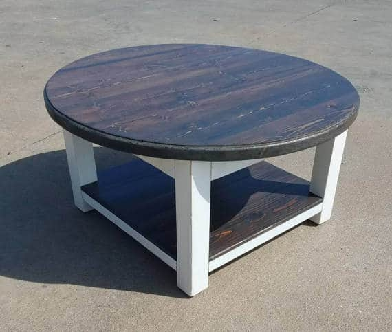 Farmhouse coffee table with storage