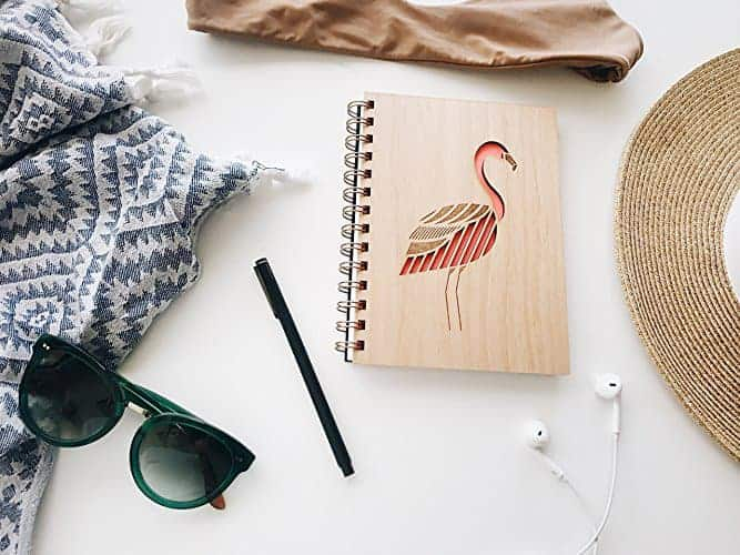 Flamingo Laser Cut Wood Journal