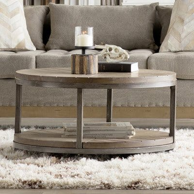 Iron and wood design coffee table