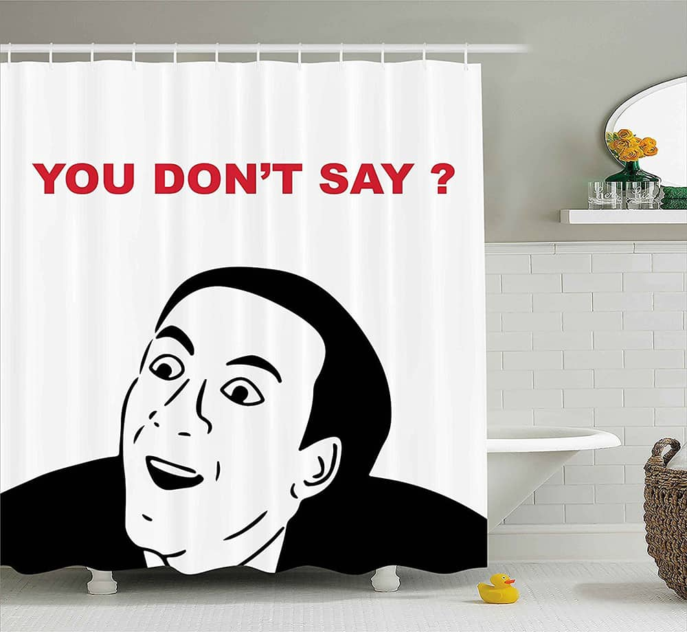 Meme face shower curtain