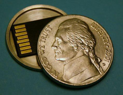 Micro SD Card Coin