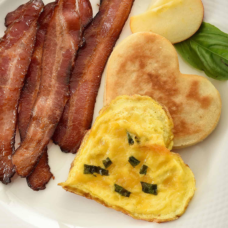 Pancake and Egg Heart-Shaped Poacher