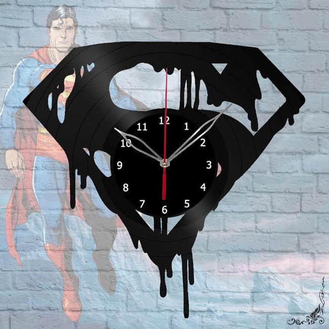 Superman Vinyl Records Wall Clock
