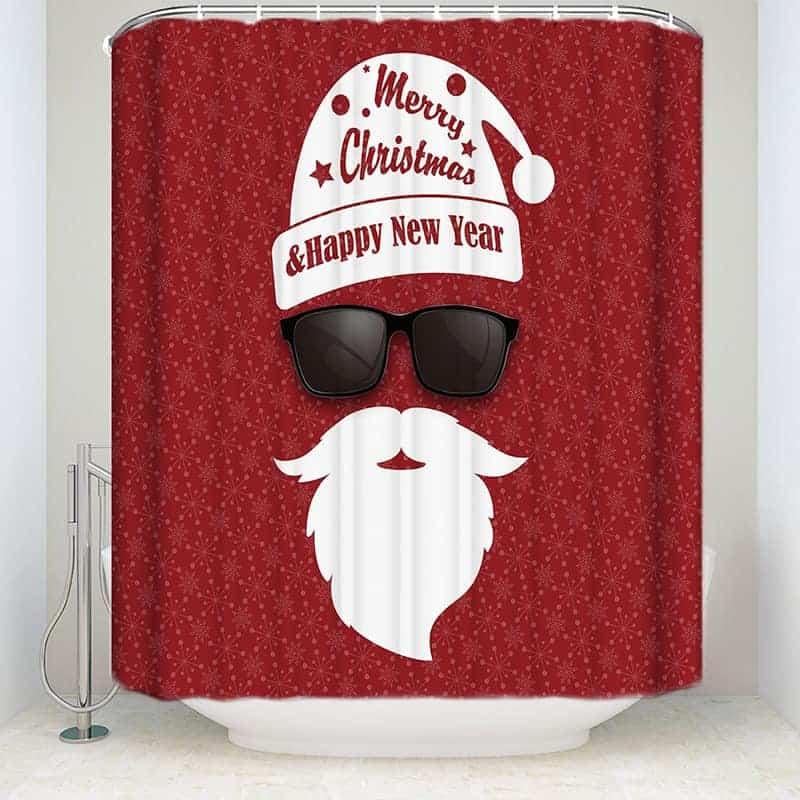 Swag Santa Claus shower curtain