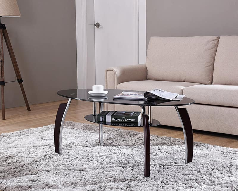Tempered glass coffee table