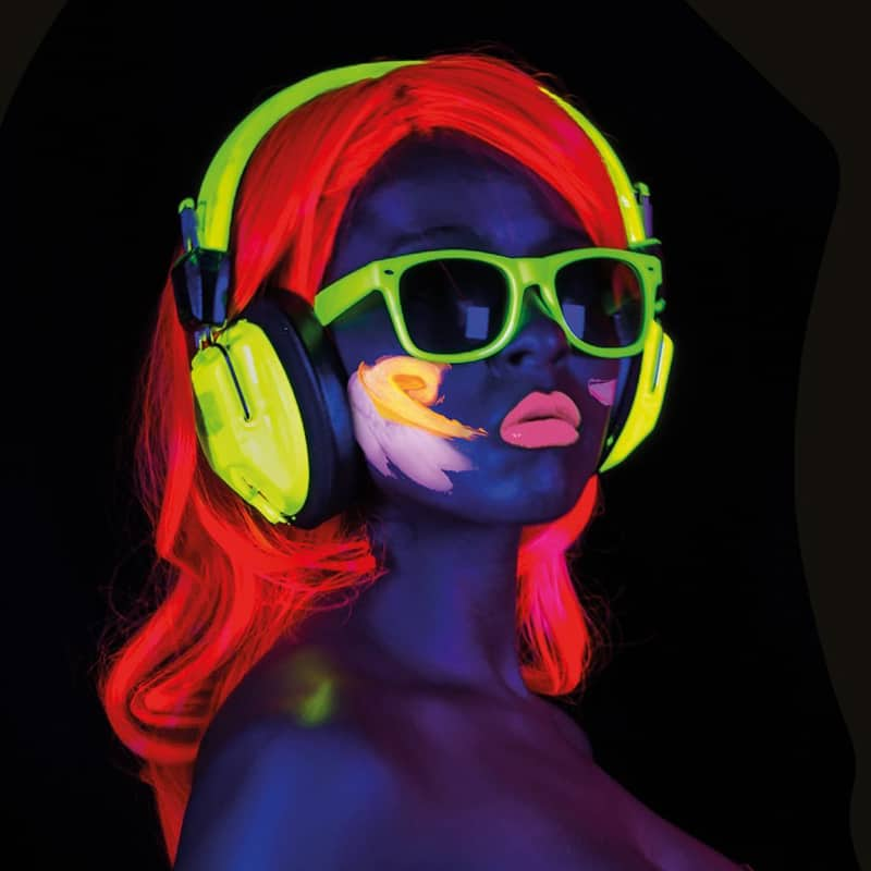 UV Glow Black light Face and Body Paint