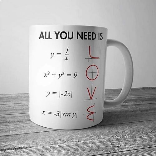 All You Need Is Love Math Mug