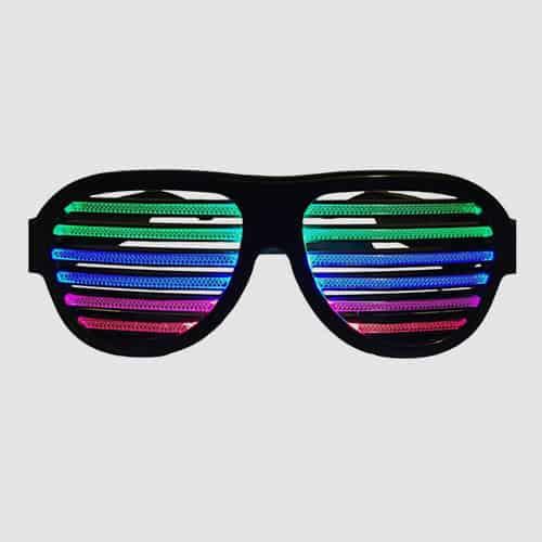 Flymei LED Light Up Shutter Shaded Glasses