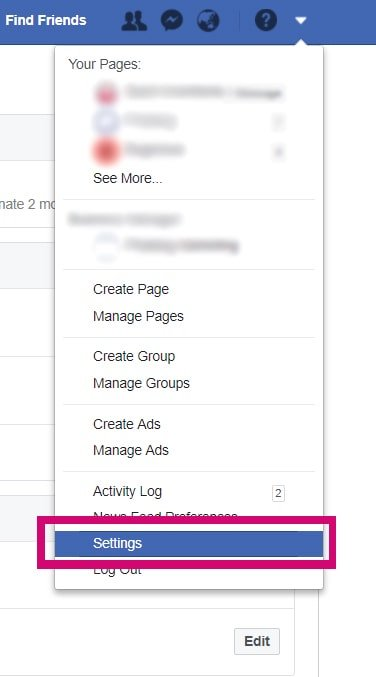 How to enable 2FA on Facebook ss1