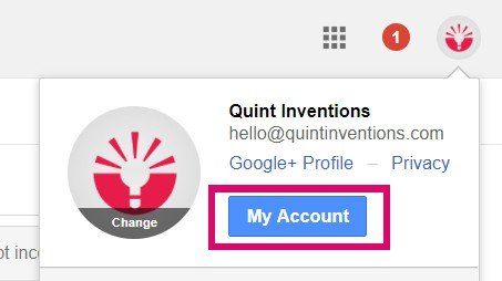 setting up 2 factor authentication on gmail