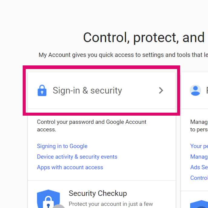 enable 2FA on Gmail