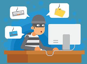 hacker getting sensitive information