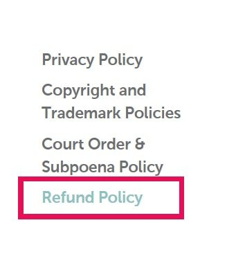 refund policy - namecheap