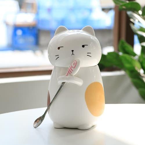 3D funny ceramic cat mug