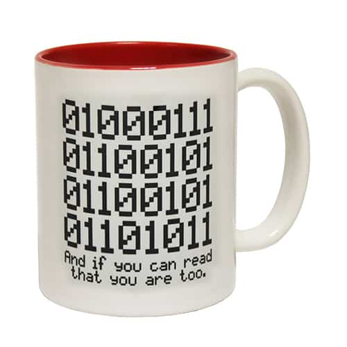 Binary geek awesome coffee mugs