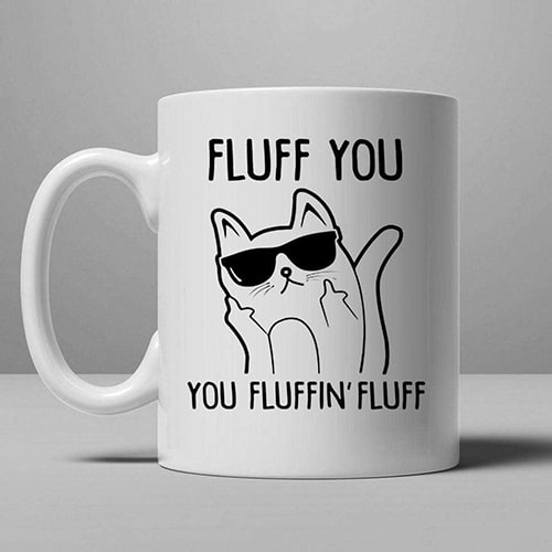 Cool cat fluffin' mug