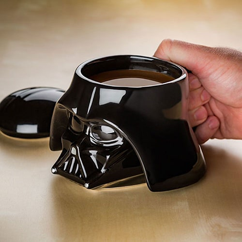 Darth Vader sculpted ceramic mug