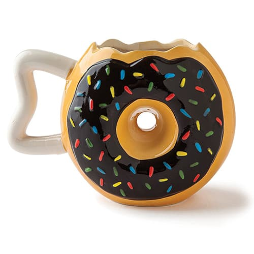 Donut shaped mug - novelty coffee mugs