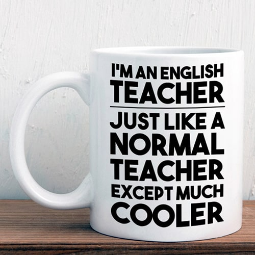 English teacher gift mug