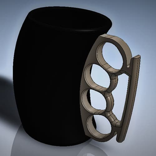 Fist cup brass knuckle