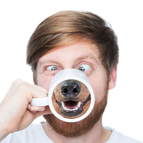 Funny dog nose ceramic coffee mug