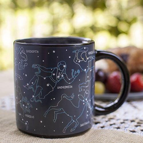 Heat changing constellation mug