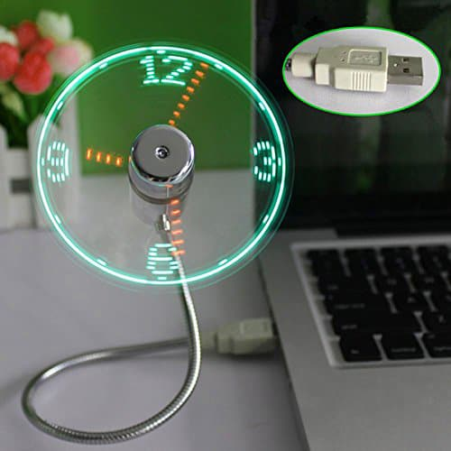 LED USB Fan Clock