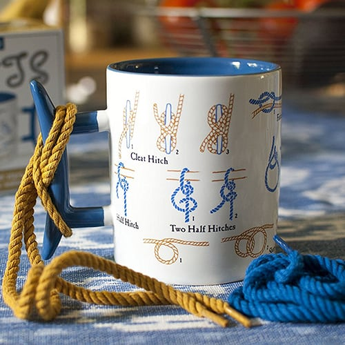 Learn how to tie knots mug