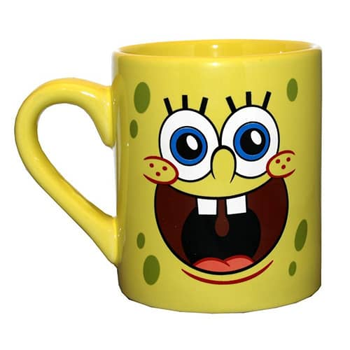 SpongeBob Face Coffee Mug - best coffee mugs