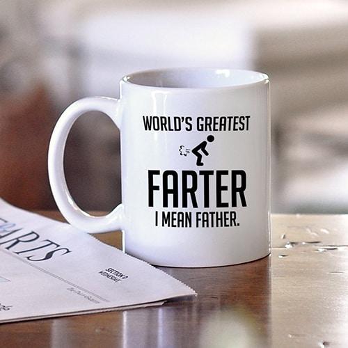 World greatest farter mug