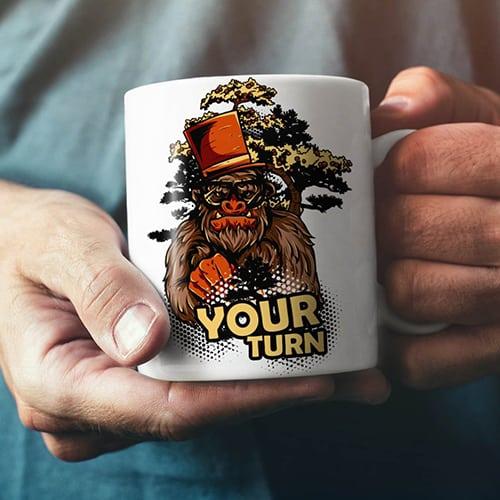 Your turn beast cool coffee mug