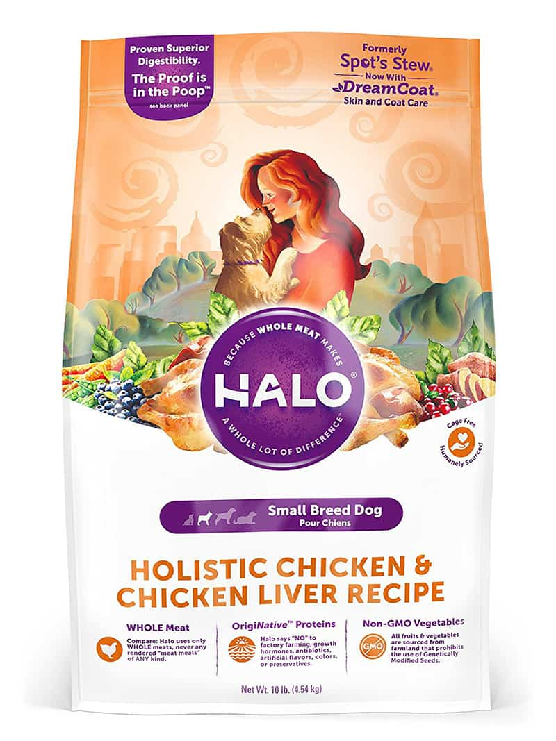 Best food for Maltese - Halo spots stew natural dry for small breeds