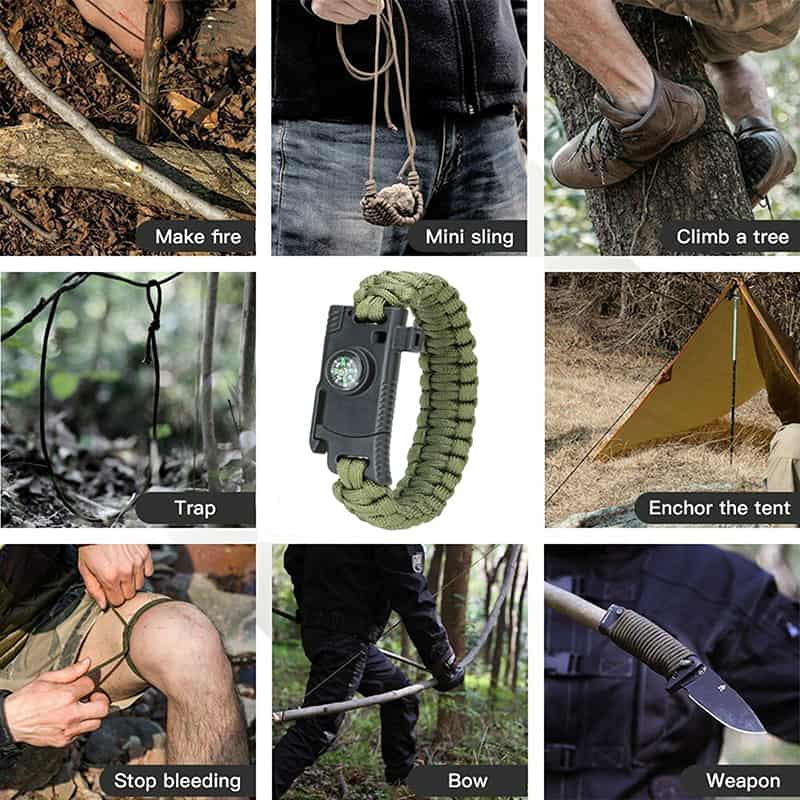 KP outdoor survival bracelet