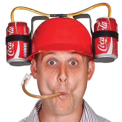 Beer and Soda Guzzler Helmet