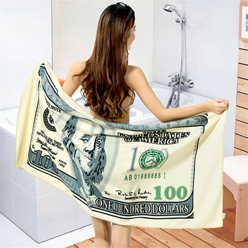 Hundred Dollar Bill Towel