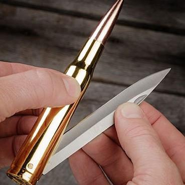 50 Caliber Bullet Folding Knife