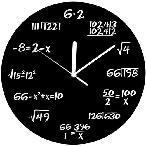 Math Clock – Awesome Stuff For Your Room