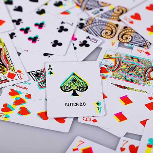 Glitch Playing Cards -Cool Bedroom Accessories for Guys