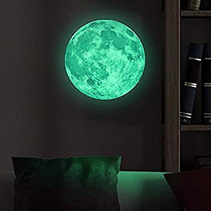 Glow-in-the-Dark Moon Decal