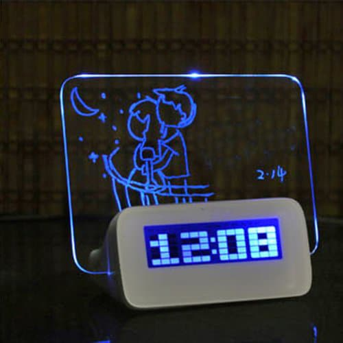 Glowing LED Message Clock