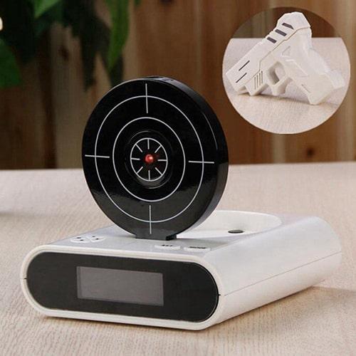 Gun and Target Alarm Clock -Cool Bedroom Gadgets