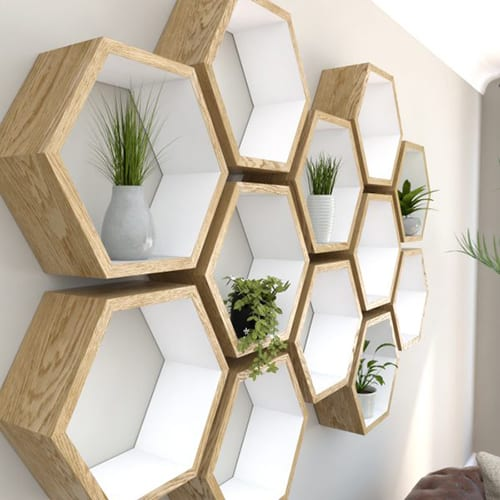 Honeycomb Shelves - Cool Items for Your Room