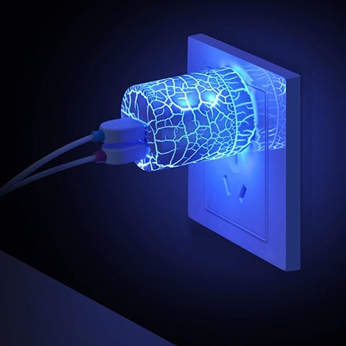 LED Glow Wall Charger