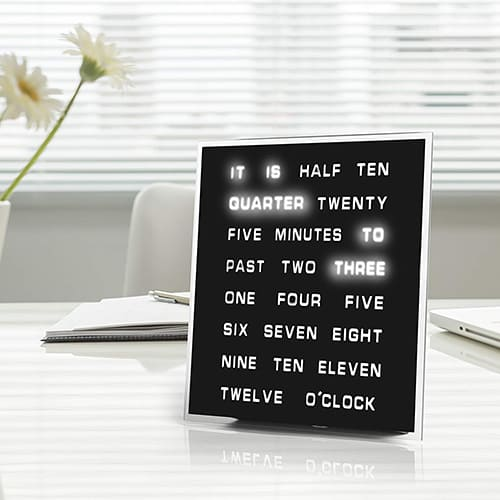 LED Word Clock - Best Gifts for Boyfriends