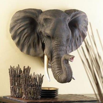 Lifelike Elephant Wall Plaque