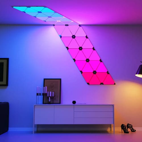 Modular Smart Lighting Panels – Cool Bedroom Ideas