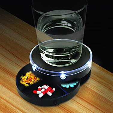 Nightstand Caddy That Lights up When You Clap